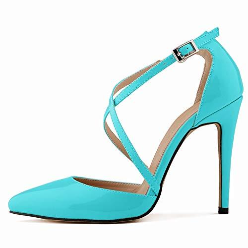 L FLYRCX Mode Dames Chaussures Simples tempérament élégant Croix Sangle Talons Hauts 36 EU