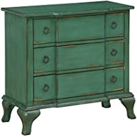 Treasure Trove 17234 Three Drawer Chest, Green, NULL