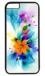 Abstract colorful flower art Thanksgiving Halloween Masterpiece Limited Design PC Black Case for iphone 6 by Cases & Mousepads