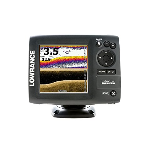 Lowrance 000-11657-001 Elite-5X Chirp with 83/200+455/800 Transducer