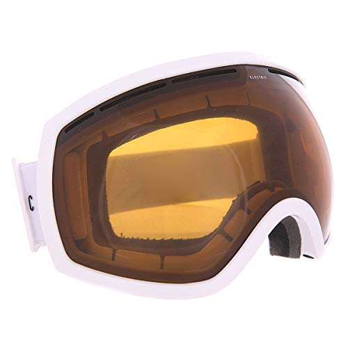 (Electric EG2 Snow Goggles Gloss White Bronze Lens)