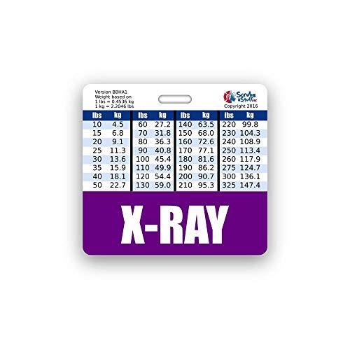 X-RAY Badge Buddy Horizontal w/Height & Weight ()