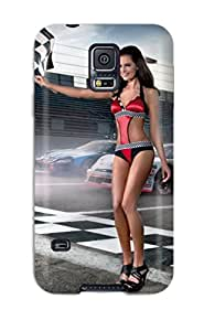 New Style Awesome Girls And Cars Flip Case With Fashion Design For Galaxy S5 4075553K95773086