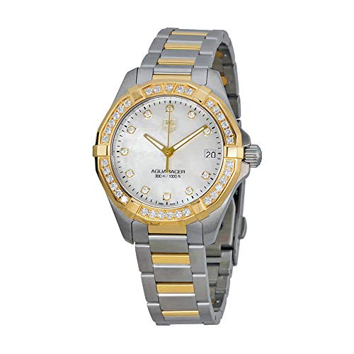 Tag Heuer Women's WAY1353.BD0917 300 Aquaracer Diamond-Accented Two-Tone Watch ()