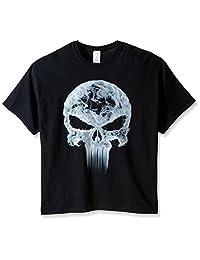 Marvel Mens Punisher Classic Logo Smoke T-Shirt