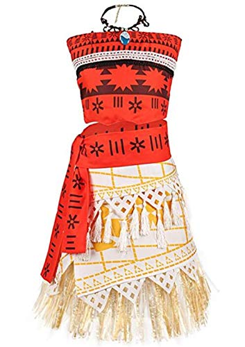 Cosplay Costume LBhadk Women Moana Polynesia Princess Dress Outfit for Halloween Party