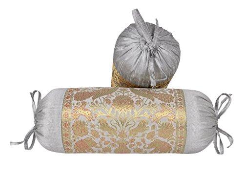 Lalhaveli Bolster Cushion Cover Set of 2 Pcs 18 x 8 Inch