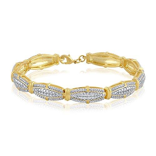 Diamond Accent Oval Frame Bracelet