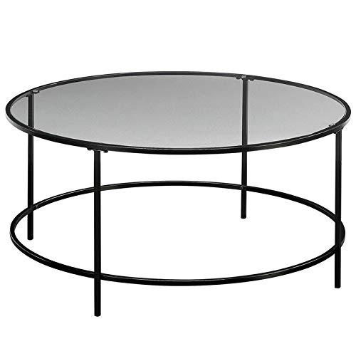 Sauder Harvey Park Coffee Table, Black/Clear Glass