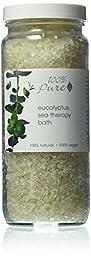 100% Pure Organic Eucalyptus Sea Therapy Bath Soak, 15 Ounce