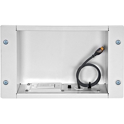 Peerless Recessed Cable and Storage Management Box - Wall Mount Cable Distribution Box - Black (IBA2AC) by Peerless