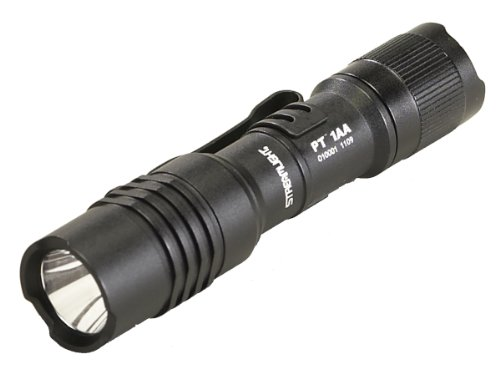 Streamlight 88032 ProTac 1AA High Performance Alkaline Flashlight with White LED, Black by Streamlight