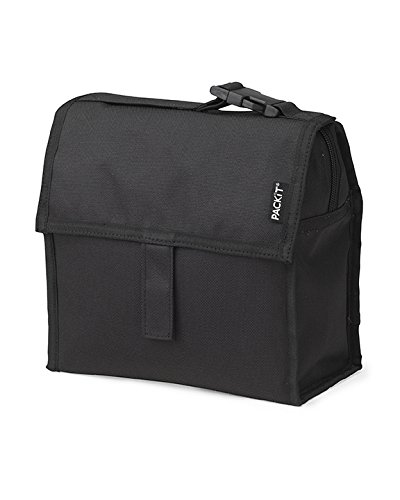 PackIt Freezable Mini Lunch Bag, Black (That Stays Box Lunch Cold)