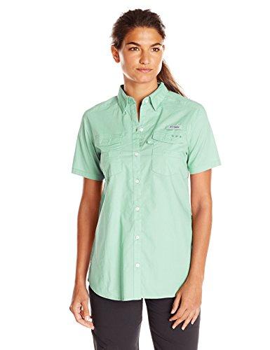 (Columbia Women's Bonehead II Short Sleeve Shirt, Light Mint, Large)