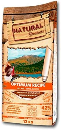 Comprar Natural Greatness Optimum Mini & Medium Breed Alimento Seco Completo para Perros - 2000 gr