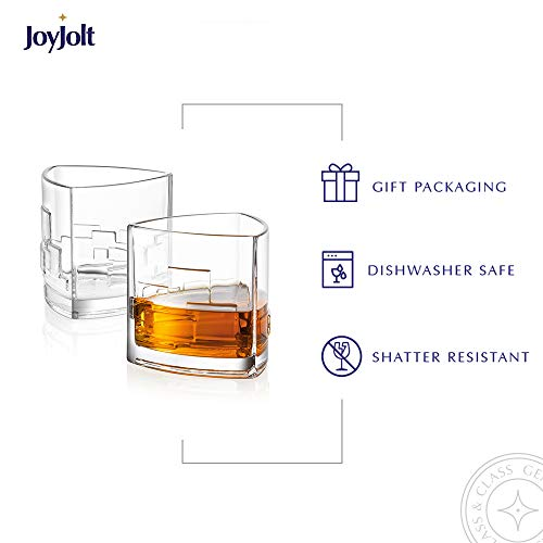 JoyJolt Revere Scotch Glasses, Old Fashioned Whiskey Glasses 11-Ounce, Ultra Clear Whiskey Glass for Bourbon and Liquor, Set Of 2 Glassware by JoyJolt (Image #6)