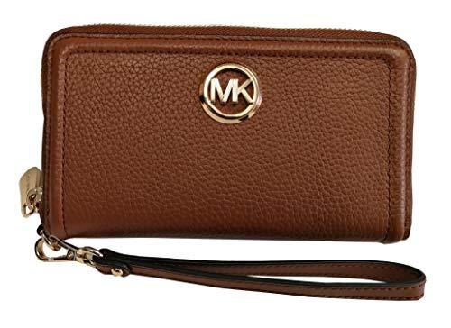 Michael Kors 2019 Fulton Large Flat Leather Phone Case Wristlet