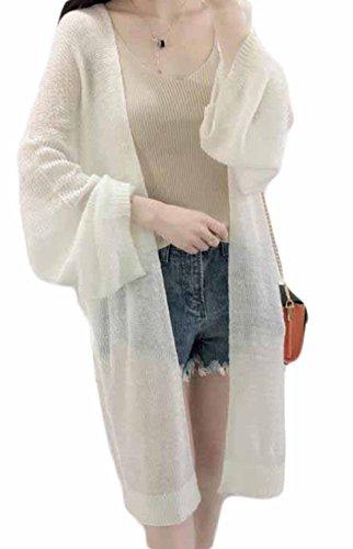 Gergeousレディース ロング カーディガン ゆったり 薄手 UVカット ロング アウター 冷房対策 春 夏