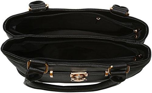 Mujer Black Negro bolsos Swans de Swanky y Prague hombro Shoppers w6qT4O0