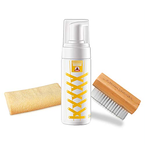 Shoes cleaner kit ,All natural solution ,for Leather sneaker ,and suede ,microfiber cloth and camelhair brush,perfect gift from Bethel