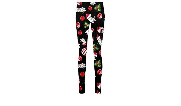 New Womens Christmas Xmas Snowman Flakes Printed Slim Fit Leggings Pants Trouser