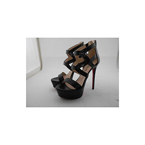 with Black Leather Sandal Altramarea Heel and Plateau B540WOxw