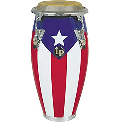 LPM198-PR LPMC Mini Tunable Puerto Rican Flag Wood Conga: Musical Instruments
