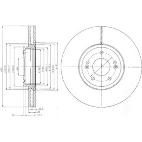 Bremsbel/äge Set Vorne Delphi Bremsscheiben /Ø321Mm