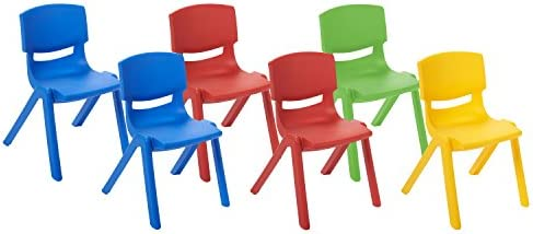 Awe Inspiring Ecr4Kids School Stack Resin Chair Indoor Outdoor Plastic Stacking Chairs For Kids 10 Inch Seat Height Assorted Colors 6 Pack Ncnpc Chair Design For Home Ncnpcorg