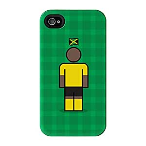 Jamaica Full Wrap High Quality 3D Printed Case for iPhone 4 / 4s by Blunt Football International + FREE Crystal Clear Screen Protector
