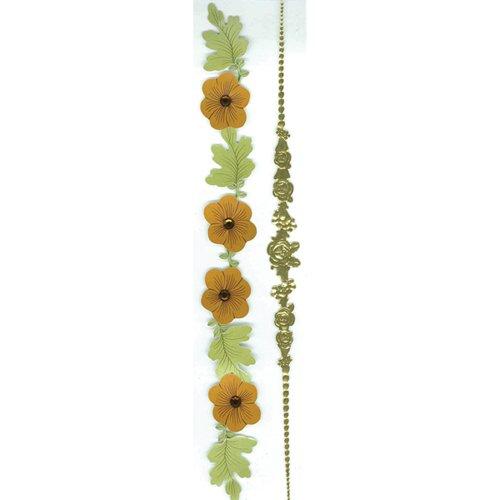 Sticko & Jolee's Boutique Parcel Dimensional Stickers: Vintage Floral (Jolees Parcel Border Stickers)