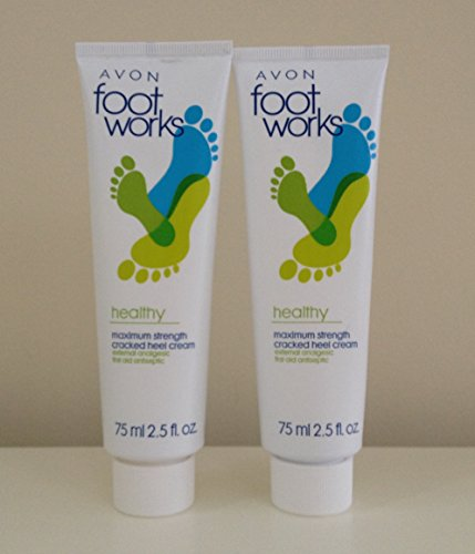 2 Foot Works Maximum Strength Cracked Heel Cream Bonus Size by Avon