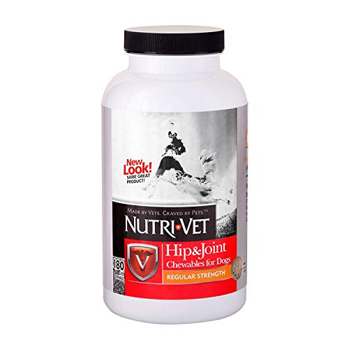 Nutri-Vet Hip & Joint Chewable for Dogs, Regular Strength, 180 Count