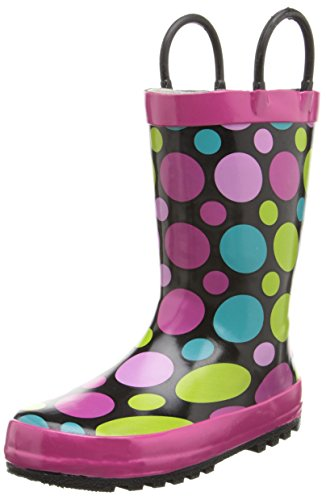 Western Chief Girls Printed Rain Boot, Dot Party, 4 M US Big Kid