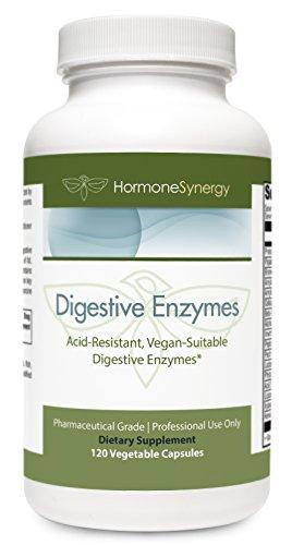 Digestive Enzymes 120 Vegetable Capsules   Multi Acid Resistant, Vegan-Suitable Digestive Enzymes*