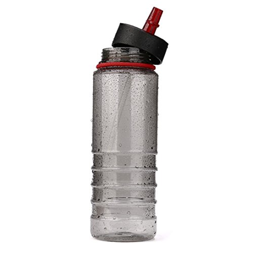 WensLTD 800ML Portable Sport Water Bottles Drinks Sports Hydration Straw (D) (Sipper Bike)