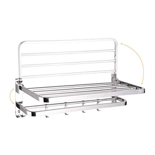 Ruhe 304 Stainless Steel Dual Folding Towel Rack for Bathroom and Kitchen/Towel Holder/Towel Stand/Bathroom Accessories for Home (24 Inches)