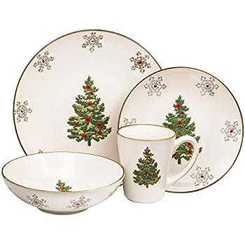 Amazon Com Cardinal Christmas Dinner Plates 8ct Kitchen