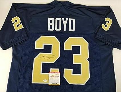 516795aaa54 Tyler Boyd Signed Jersey - Pitt TSE COA - Autographed College ...