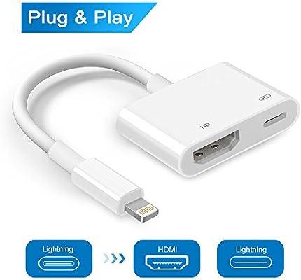 Adaptador de vídeo digital con conector para iPhone 8, 7, 6, 5 ...