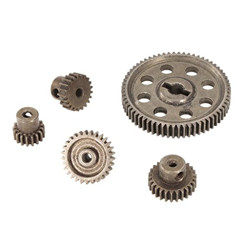 Homyl 5pcs Steel Diff Differential Main Metal Spur Gears Pinions for HSP HPI Redcat 1/10 RC Car, ()