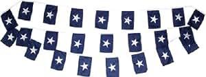 30m cadena bandera Set de 20Bonnie azul banderines de banderines banderas Premium Vivid color y UV decoloración mejor jardín Outdor Decor lienzo resistente al cabecera y poliéster MATERIAL bandera