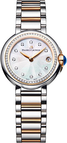 Maurice Lacroix Women's 'Fiaba' Swiss Quartz Gold and Stainless Steel Casual Watch, Color:Two Tone (Model: FA1004-PVP23-170)