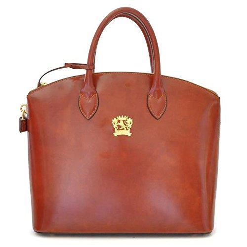 Pratesi Verona Italian Leather Tote Handbag, Shoulder bag (tan)