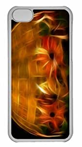 Customized iphone 5C PC Transparent Case - Colorful Lamp Personalized Cover