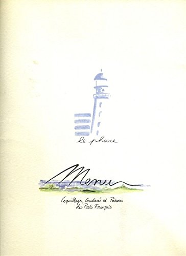 - Le Phare Menu Rue Marbeuf Paris France The Lighthouse Crustaceans & Shellfish