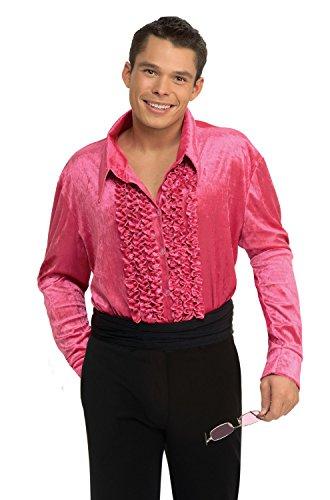 (Rubie's Costume Co Pink Velvet Disco Shirt Large Costume)