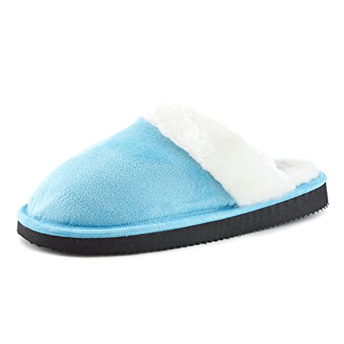 Womens Bedroom House Warm Comfort House Slippers (Adults) Blue fqV5AOpgF