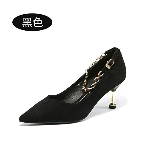 Black Stiletto Red Female Wedding Wedding Tacchi Word Buckle Shoes A Shoes Shoes Bride High alti Yukun Heels 0TRqaA0
