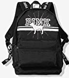 LIMITED! VICTORIA SECRET - SOLD OUT - RARE SPARKLE BLING. SILVER AND BLACK WITH BLING PUP CAMPUS BACKPACK Made by PINK